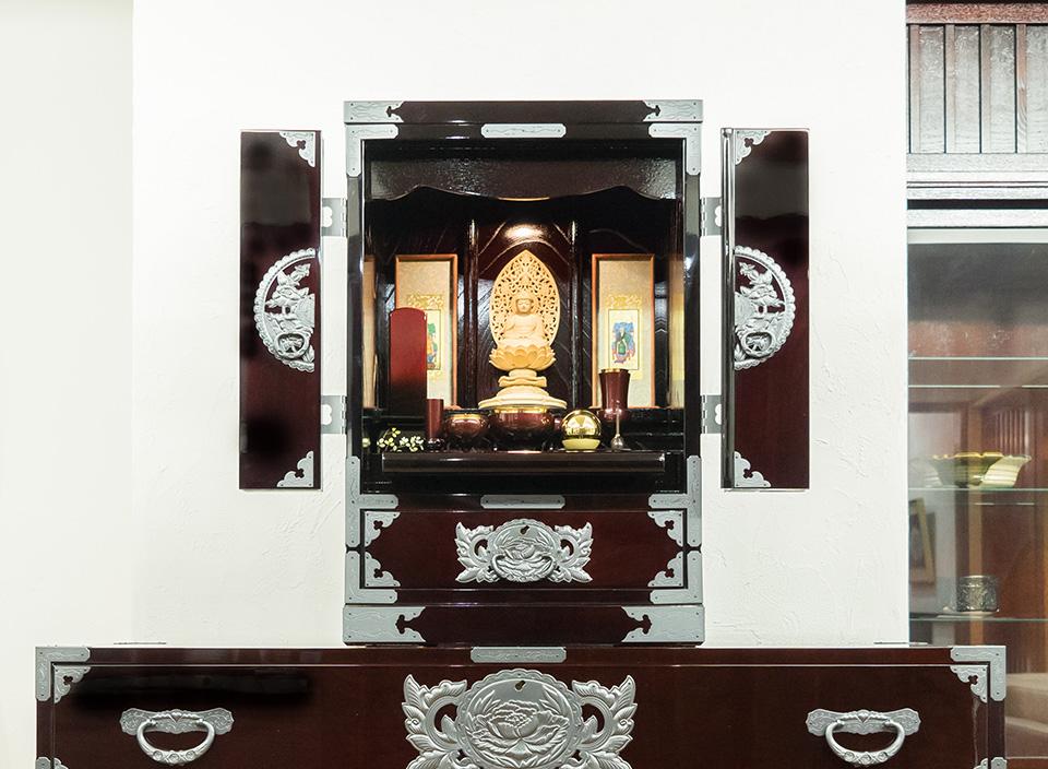仙台仏壇(小)KB-114 木地呂漆塗り